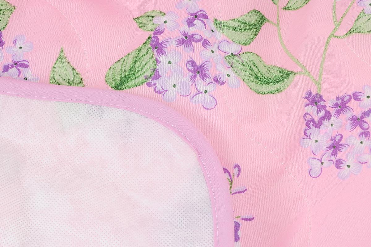 """Покрывало стеганое """"Сирень"""", цвет: розовый, 210 х 240 см"""