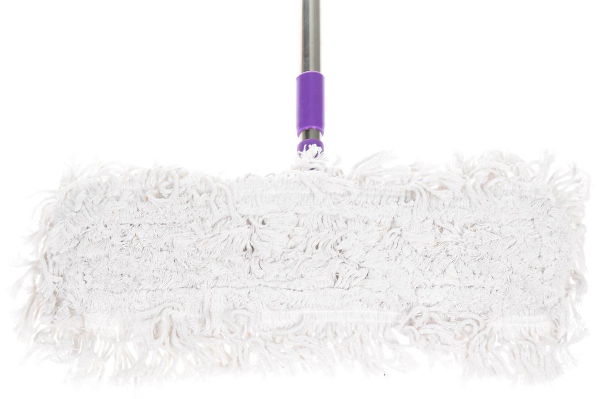 """Швабра Фэйт """"Флаундер-1"""", с телескопической ручкой и сменной насадкой, цвет: фиолетовый"""