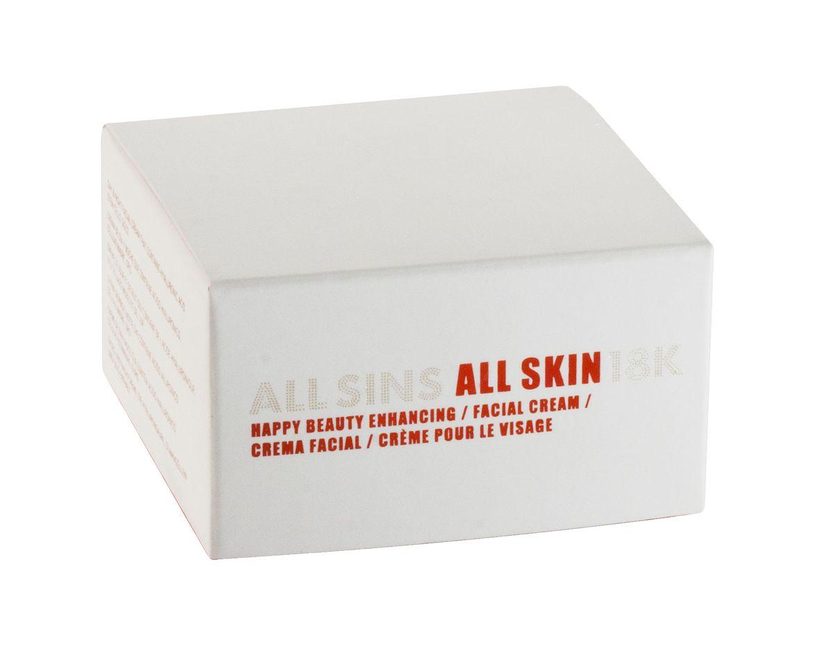 All Sins 18K Happy Beauty Enhancing совершенствующий крем для лица (ночь и день), 50 мл