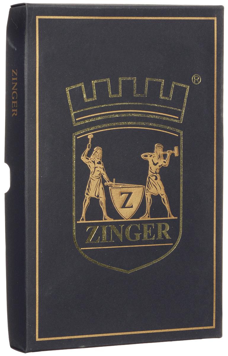Zinger Маникюрный набор профессиональный, цвет: бордовый, 7 предметов. zMSFE 402-1 S