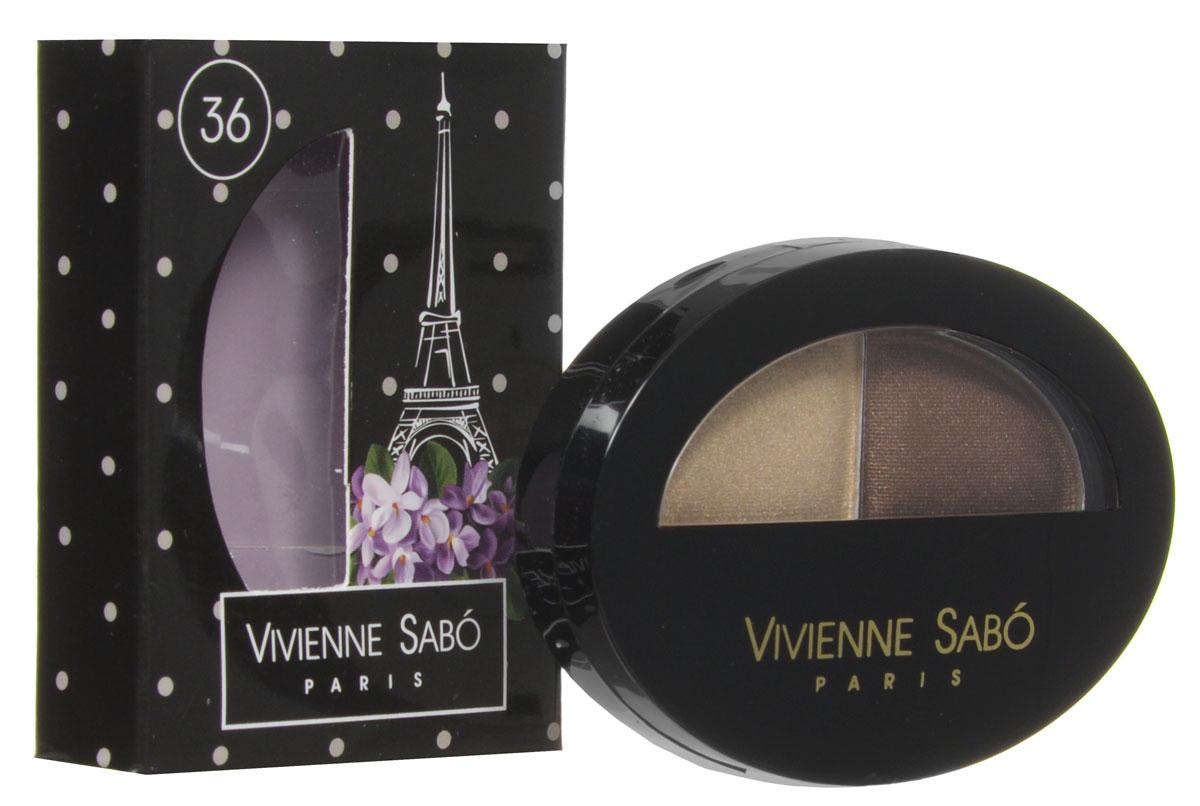Vivienne Sabo Тени для век двойные Jeter du Chic , тон 36, 2,4 г, новый дизайн