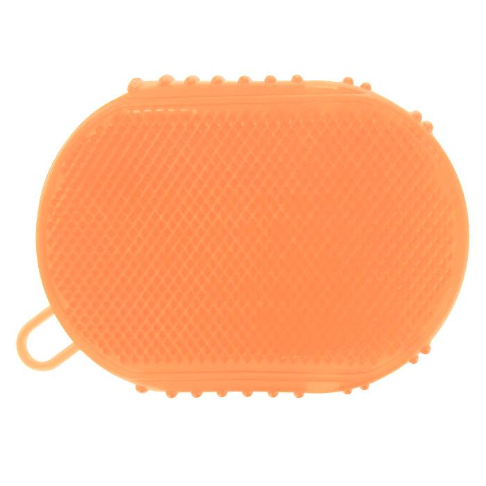 Массажер-варежка Дельтатерм Варюша, цвет: оранжевый