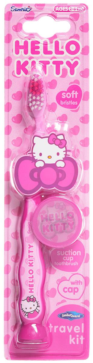 Hello Kitty Зубная щетка на присоске с колпачком