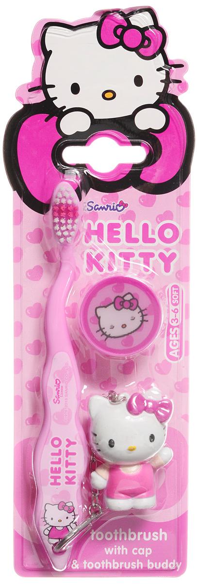 Hello Kitty Зубная щетка с защитным колпачком и брелоком