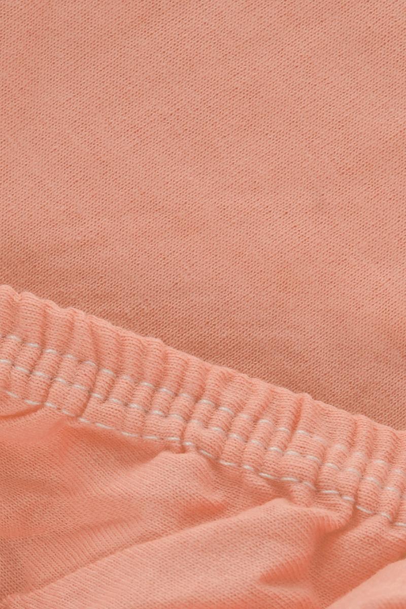 """Простыня на резинке Легкие сны """"Color Way"""", трикотаж, цвет: персиковый, 120 x 200 см"""