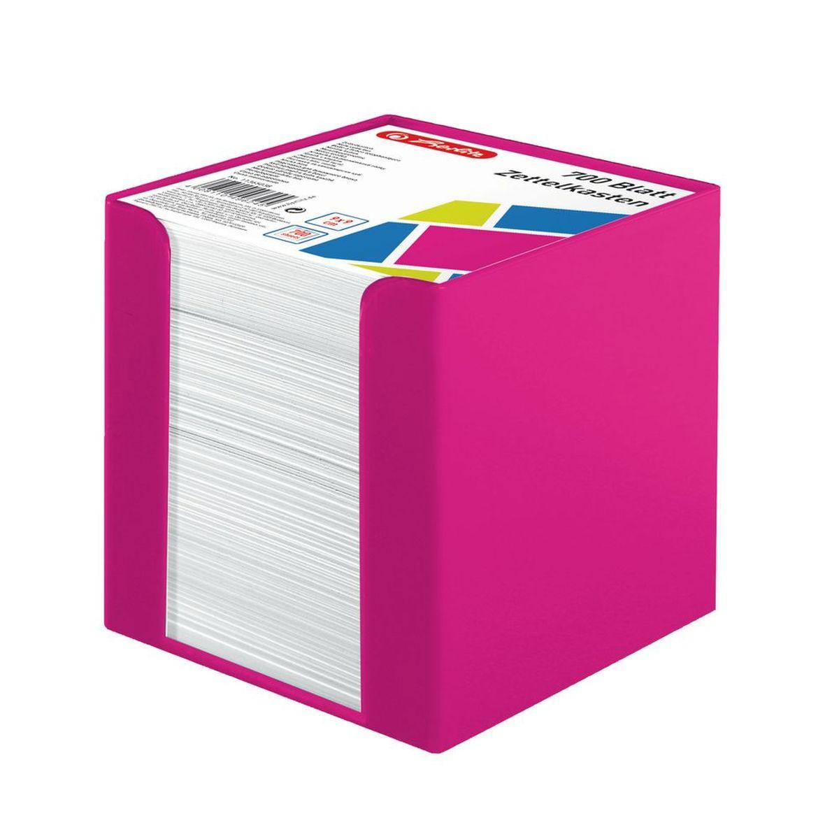 Herlitz Бумага для заметок Colour Blocking цвет подставки розовый