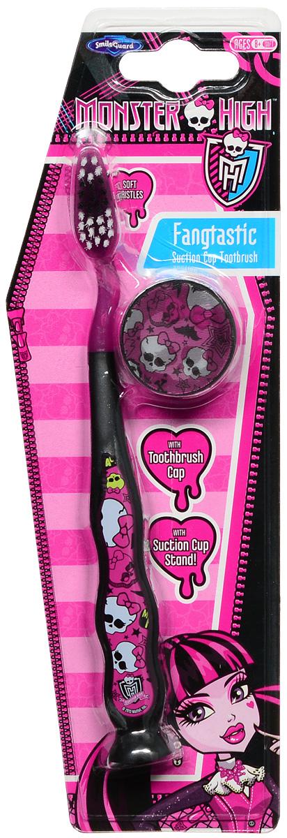 Monster High Зубная щетка на присоске с защитным колпачком Fangtastic