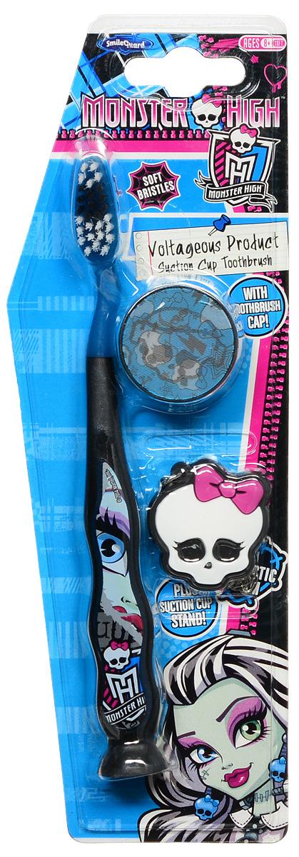 Monster High Зубная щетка на присоске с защитным колпачком и брелоком Voltageous