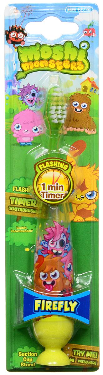 Moshi Monsters Зубная щетка на присоске с таймером-подсветкой цвет зеленый желтый