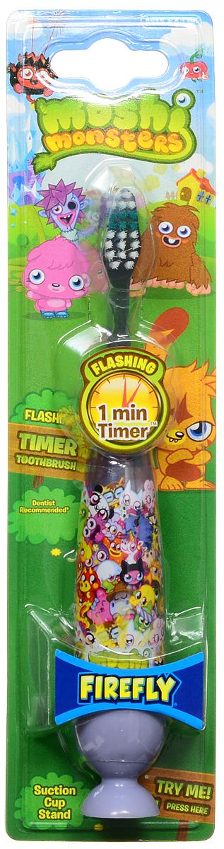 Moshi Monsters Зубная щетка на присоске с таймером-подсветкой цвет сиреневый