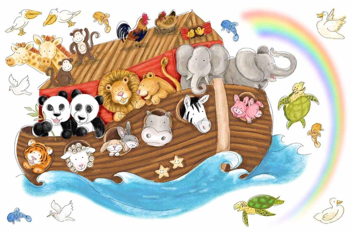 RoomMates Наклейка интерьерная Ноев ковчег 14 шт