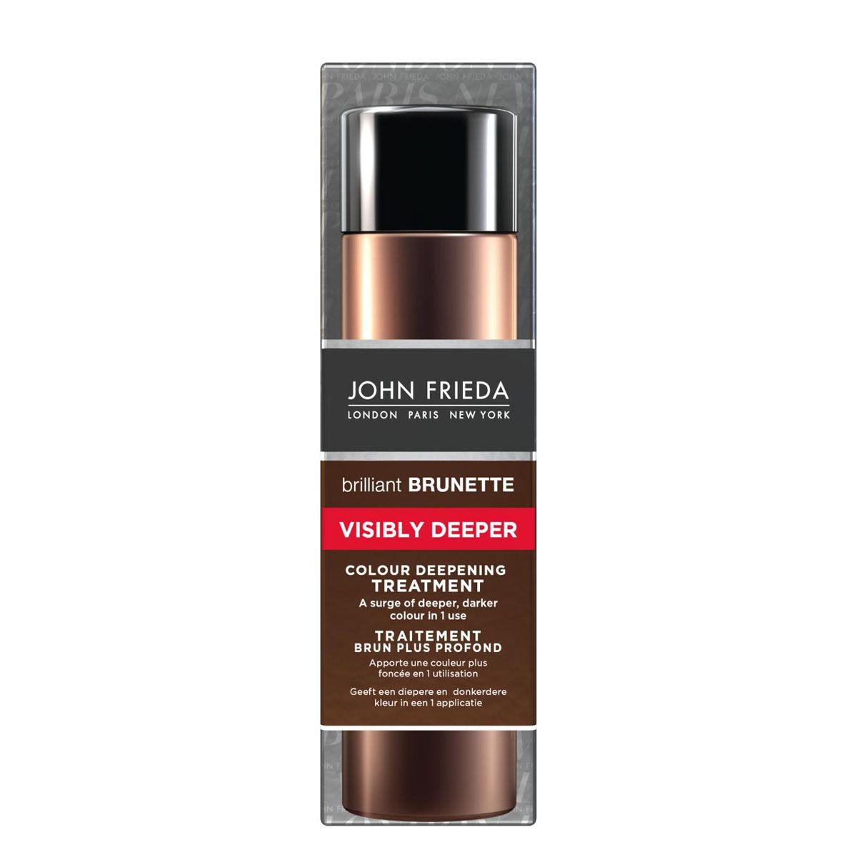 John Frieda Средство для создания насыщенного и глубокого цвета темных волос Brilliant Brunette VISIBLY DEEPER 150 мл