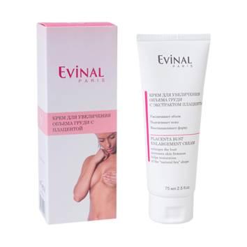 Evinal Крем для увеличения объема груди, с экстрактом плаценты, 75 мл