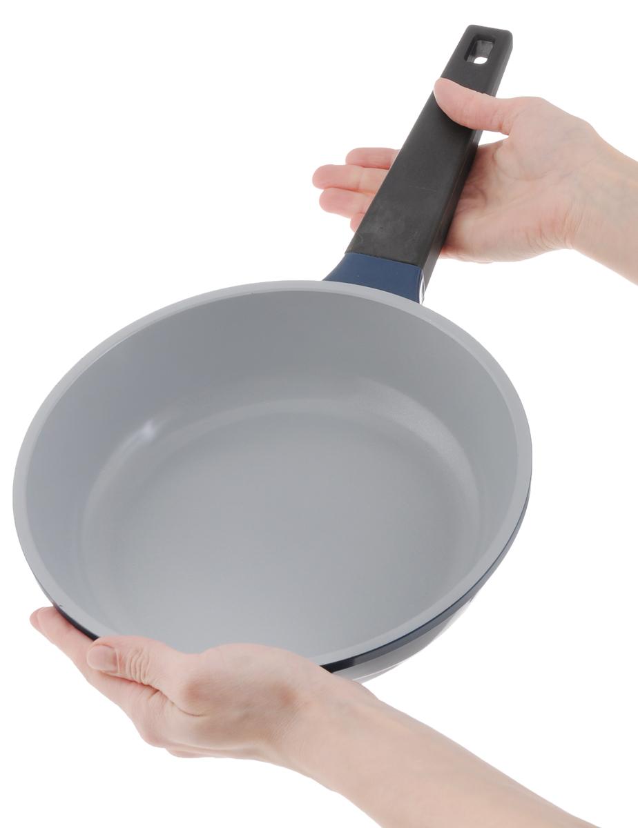 Сковорода BIOSTAL Bio-FP-28 28см лилово-серый