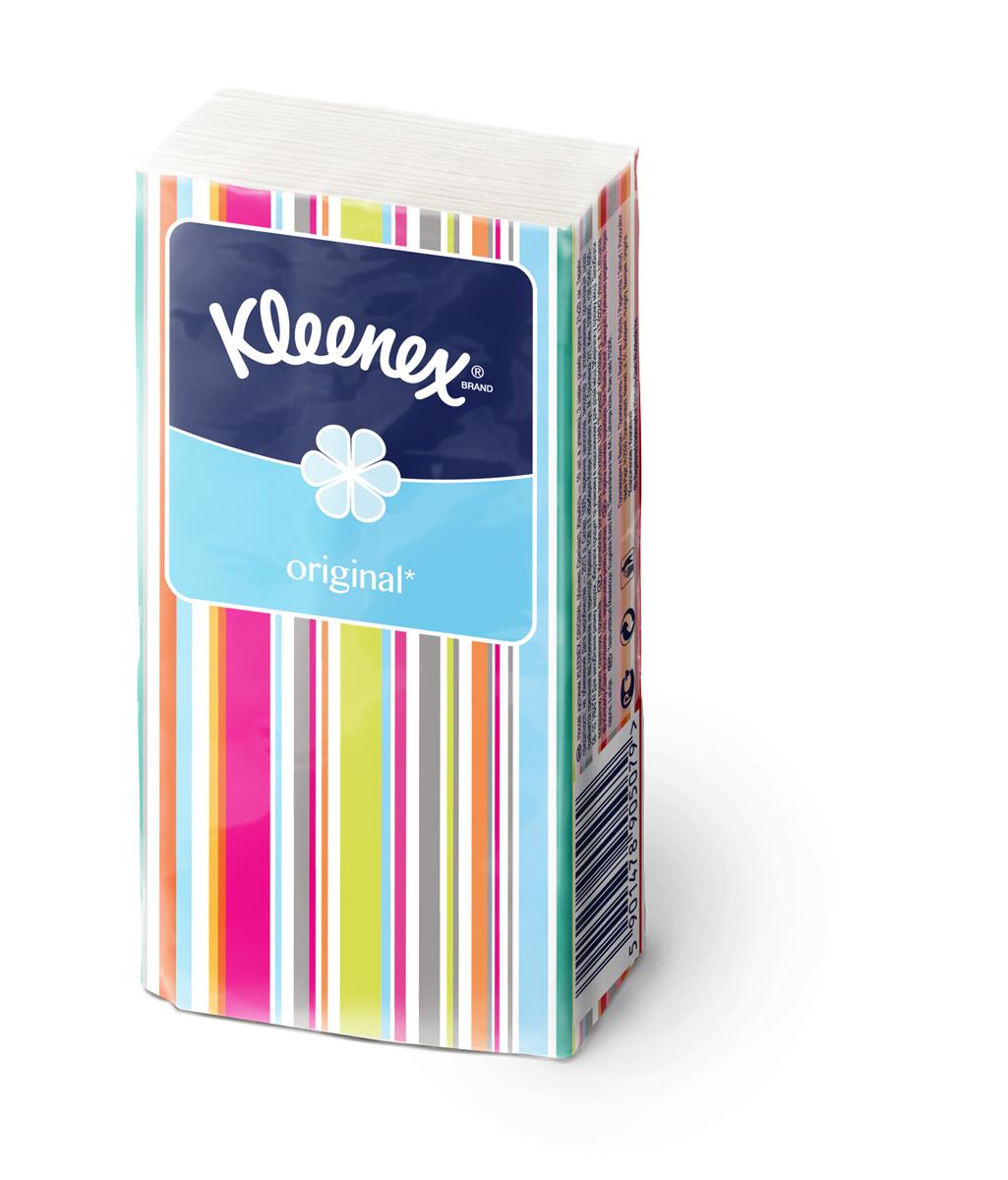 Kleenex Платочки носовые белые Original 10 х 10 шт
