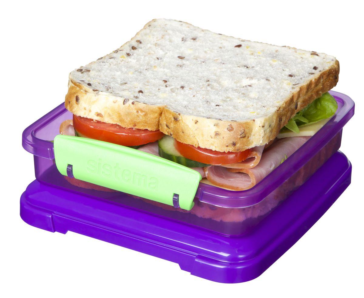 """Контейнер для сэндвичей """"Sistema"""", цвет: фиолетовый , 450 мл"""