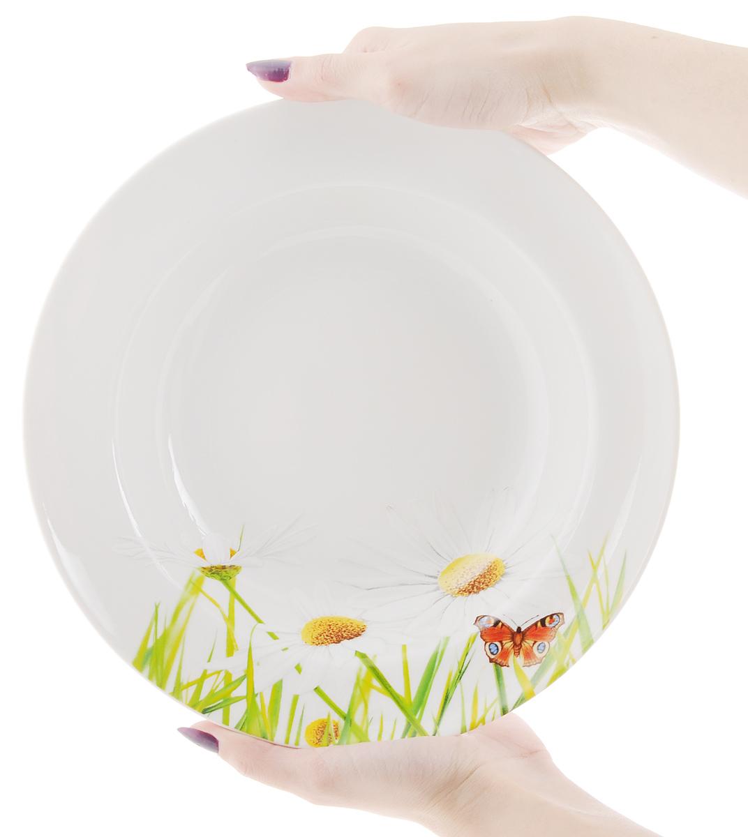 "Тарелка глубокая ""Идиллия. Ромашка"", диаметр 24 см"
