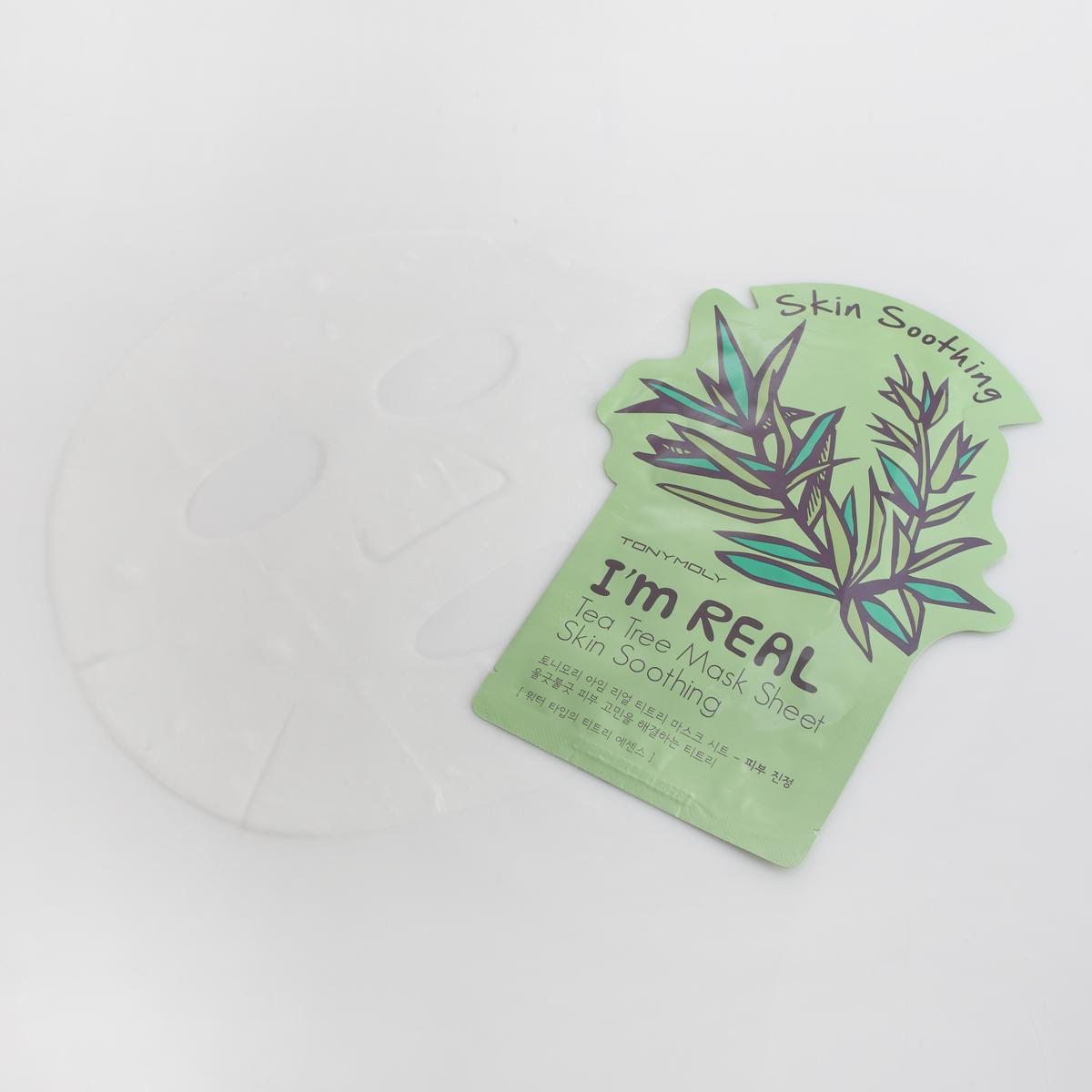 TonyMoly Тканевая маска с экстрактом чайного дерева Im Real Tea Tree Mask Sheet, 21 мл (Tonymoly)