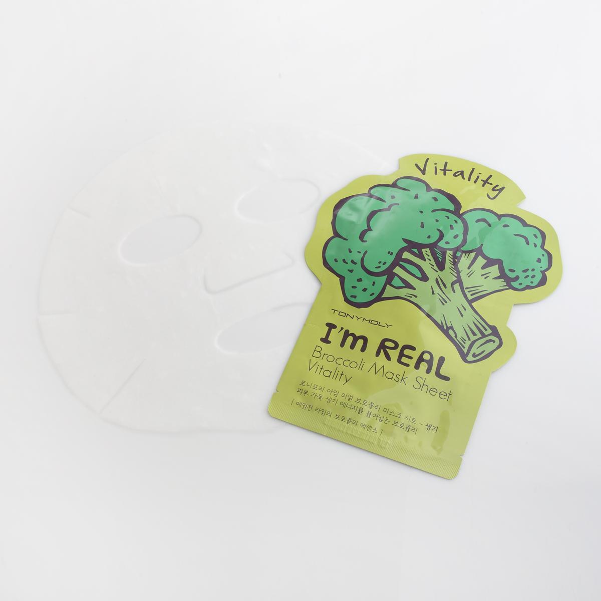 TonyMolyТканевая маска с экстрактом брокколи Im Real Broccoli Mask Sheet, 21 мл (Tonymoly)