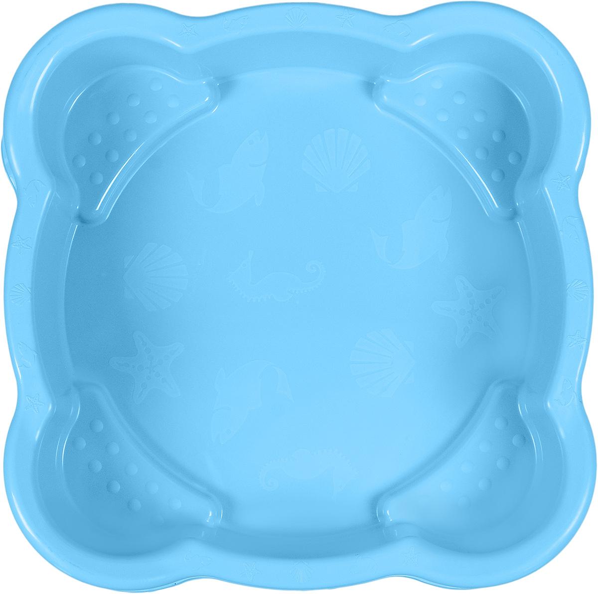 Marian Plast Песочница квадратная цвет голубой
