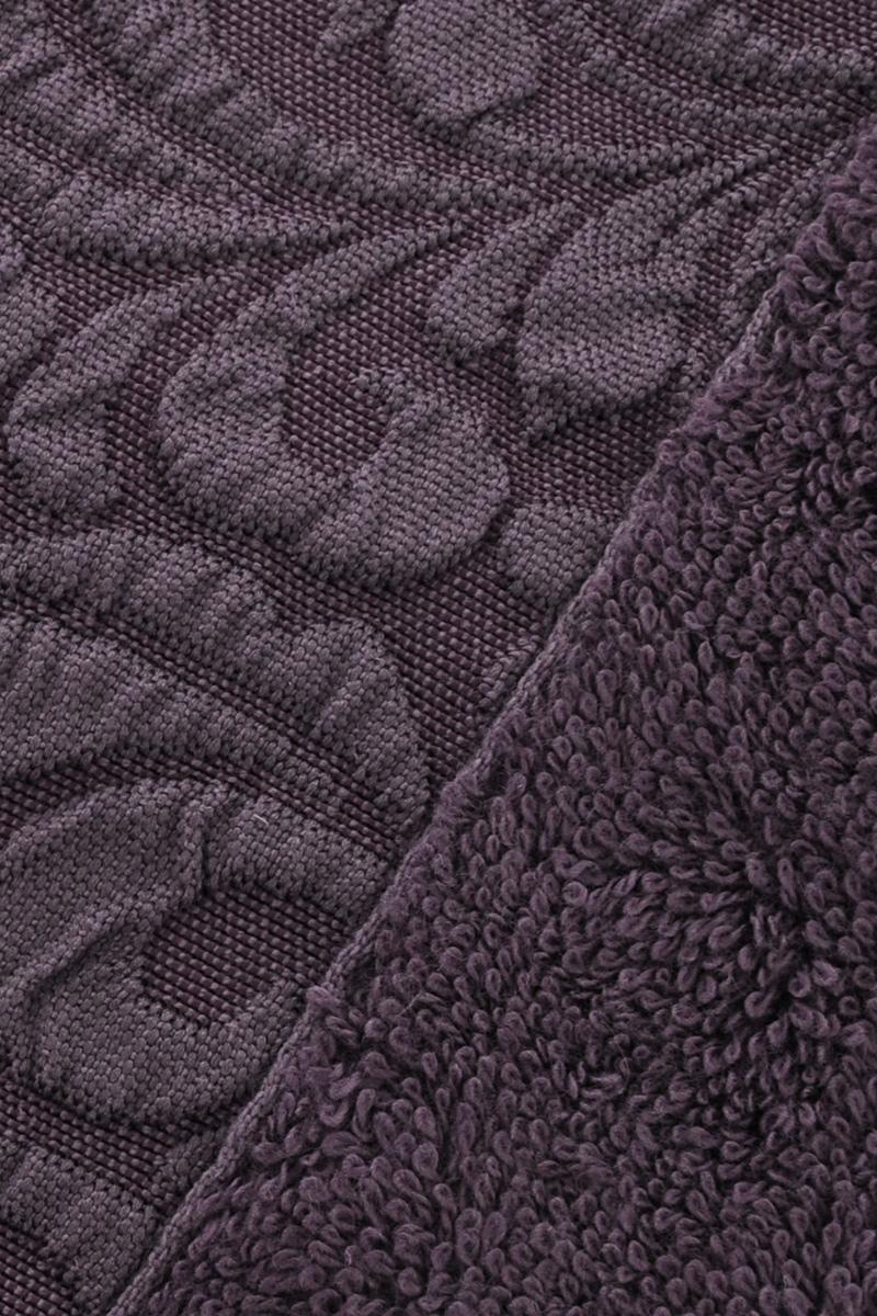 "Полотенце бамбуковое Issimo Home ""Valencia"", цвет: пурпурный, 70 x 140 см"