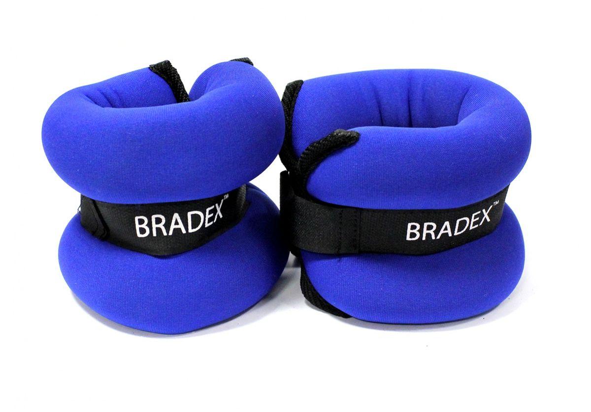 """Утяжелители по 1,5 кг пара Bradex """"Геракл Экстра"""", цвет: синий. SF 0103"""