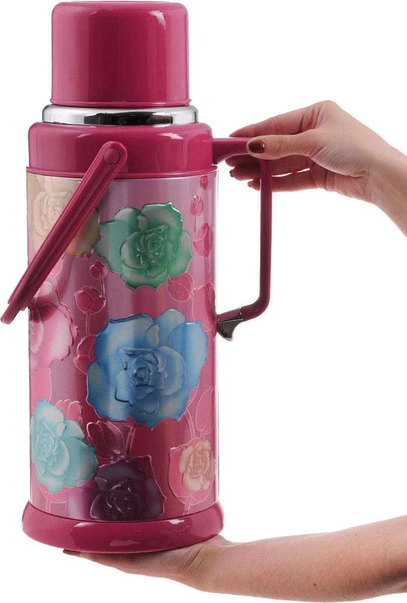 """Термос """"Mayer & Boch"""", цвет: бордовый, розовый, зеленый, 3,2 л. 21870"""
