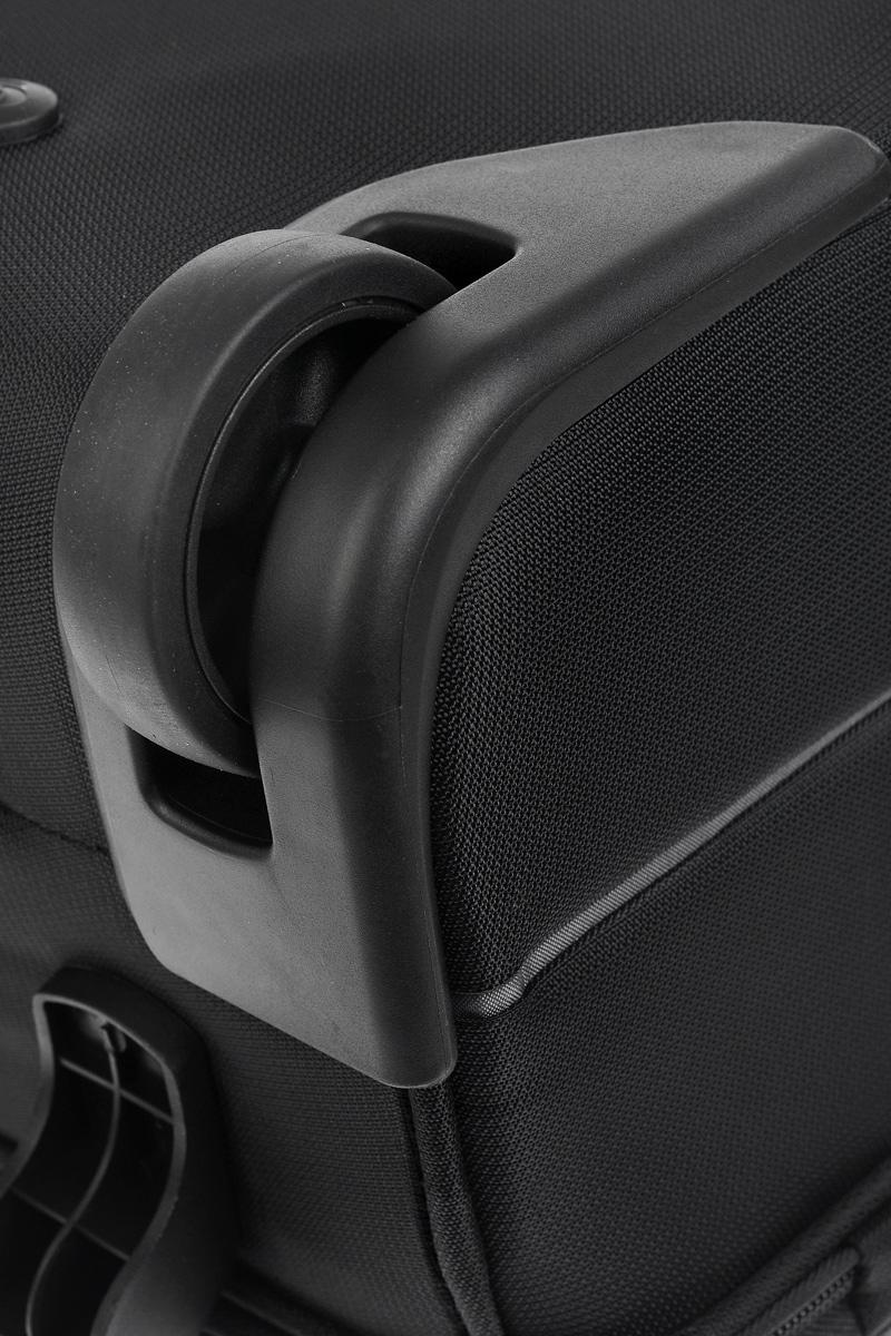"""Сумка-чемодан Samsonite """"Pop-Fresh"""", с телескопической ручкой, на колесах, цвет: черный, 61 л. 37V*09012"""