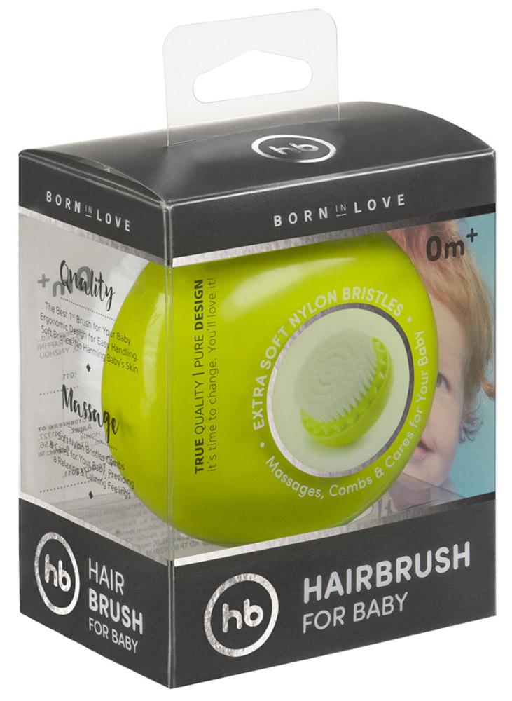 Happy Baby Щетка для волос детская цвет салатовый