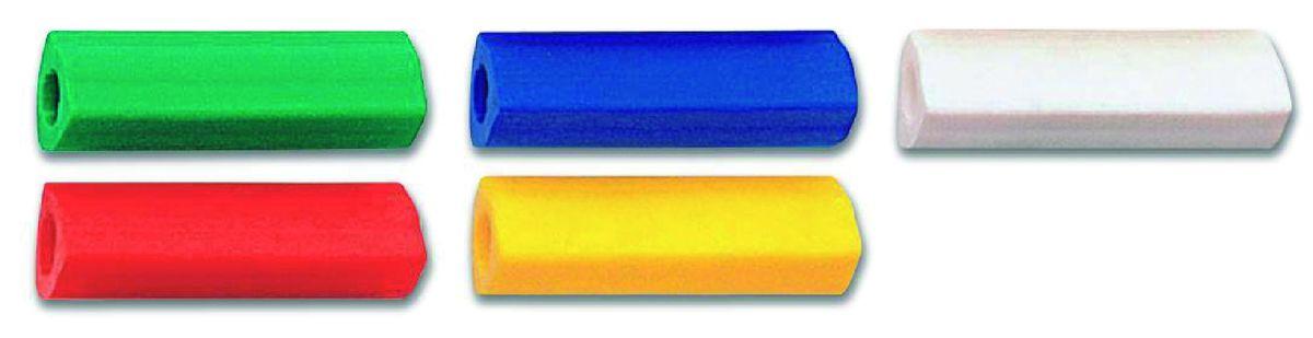 Ластик Faber-Castell может быть использован в качестве манжетки для карандашей. У ластика эргономичная трехгранная форма, не содержит ПВХ.