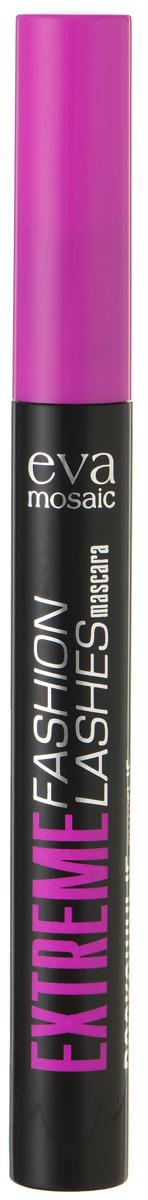 Eva Mosaic Тушь для ресниц Extreme Fashion Lashes для объема и удлинения, 6 мл, Черная