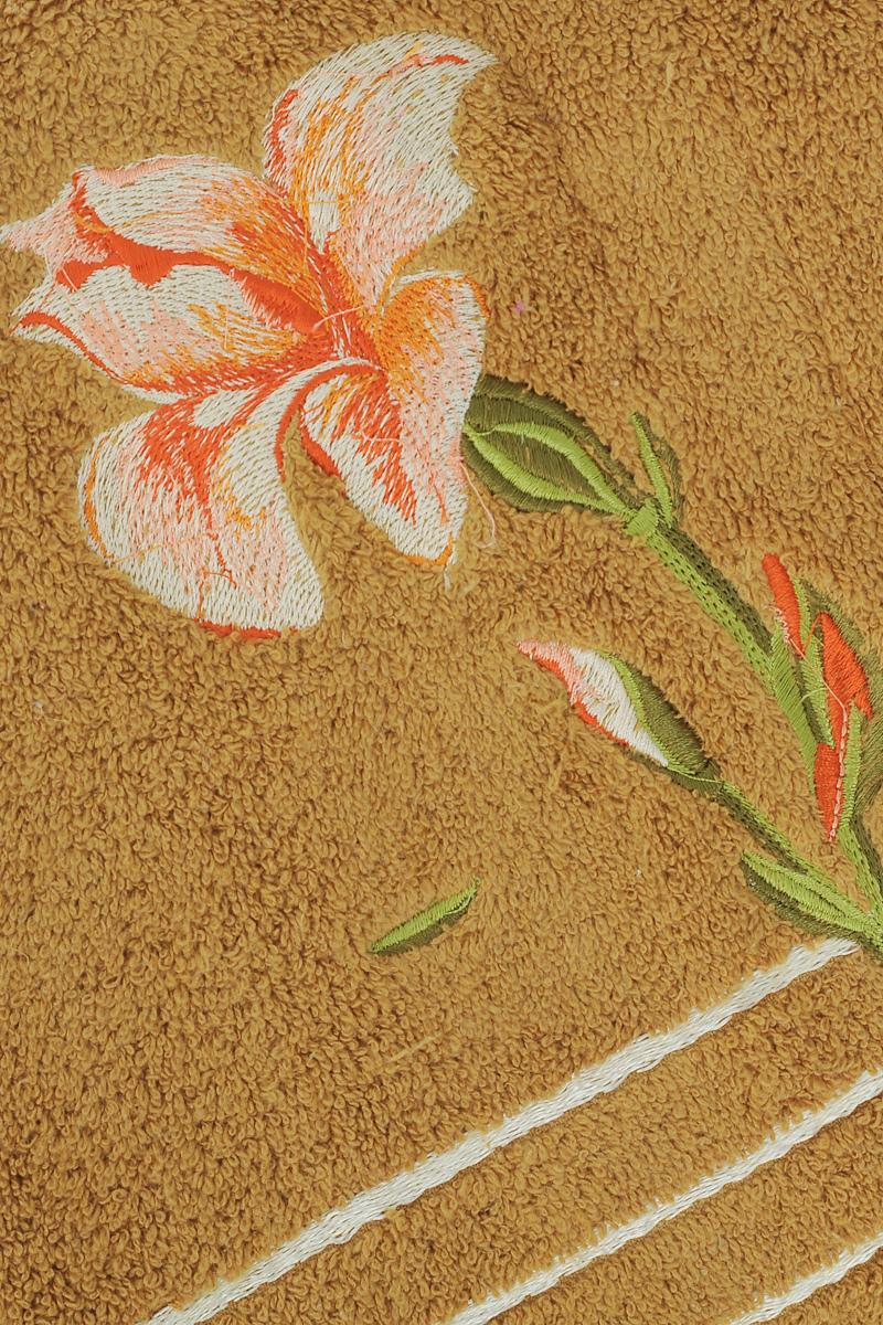 "Полотенце Soavita ""Iris"", цвет: светло-коричневый, 70 х 140 см"