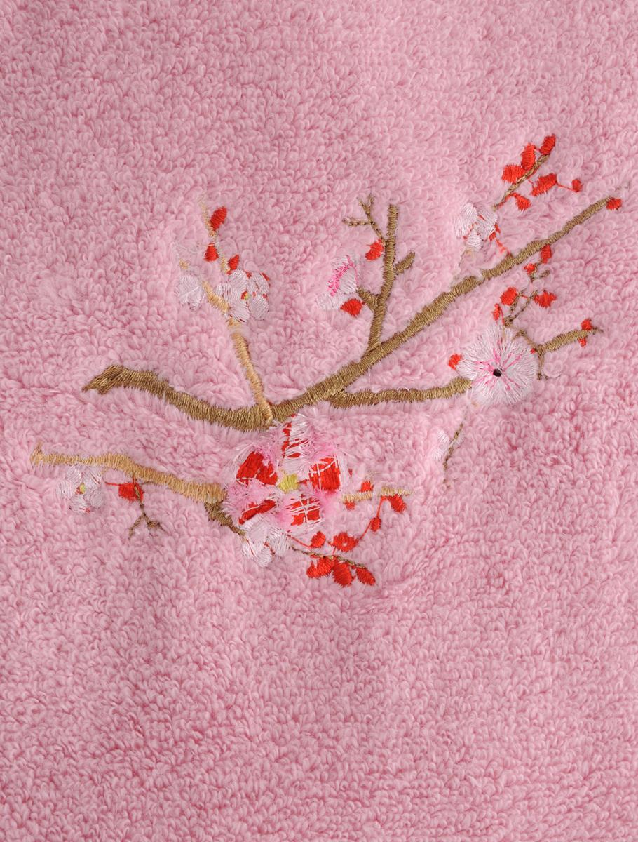 """Полотенце Soavita """"Spring"""", цвет: розовый, 50 х 90 см"""
