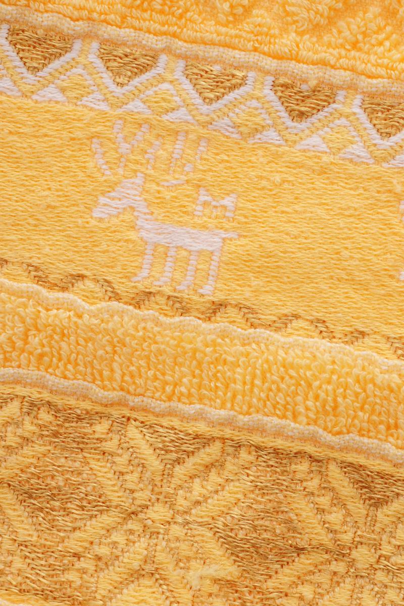 "Полотенце Soavita ""Marco"", цвет: желтый, 50 х 90 см"