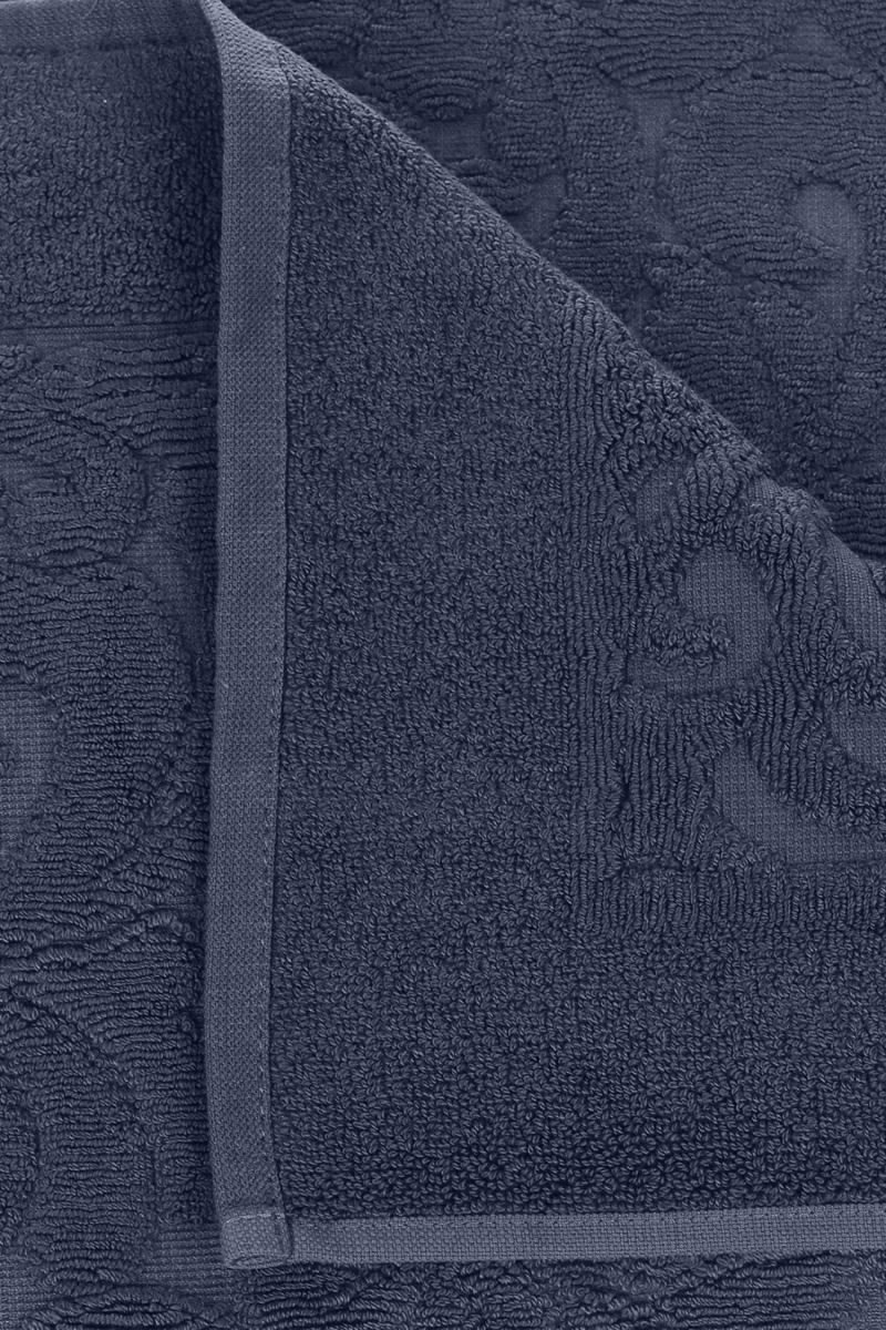 """Коврик-полотенце для ванной Issimo Home """"Valencia"""", цвет: темно-синий, 50 x 80 см"""