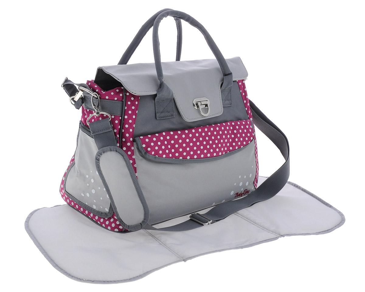 BabyOno Сумка для мамы Style цвет серый темно-розовый