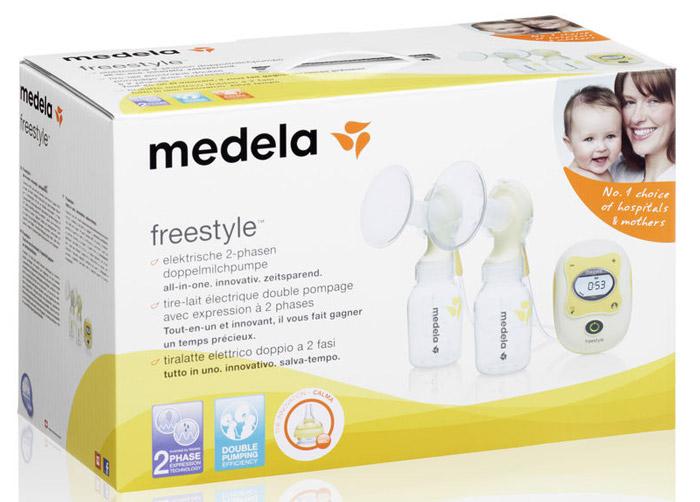 """Молокоотсос Medela """"Freestyle"""", двухфазный, для сцеживания из двух молочных желез одновременно"""
