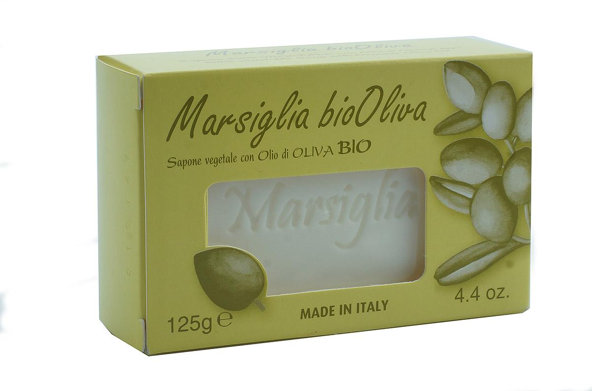 Iteritalia Мыло Марсельское высококачественное натуральное с оливковым маслом, 125 г