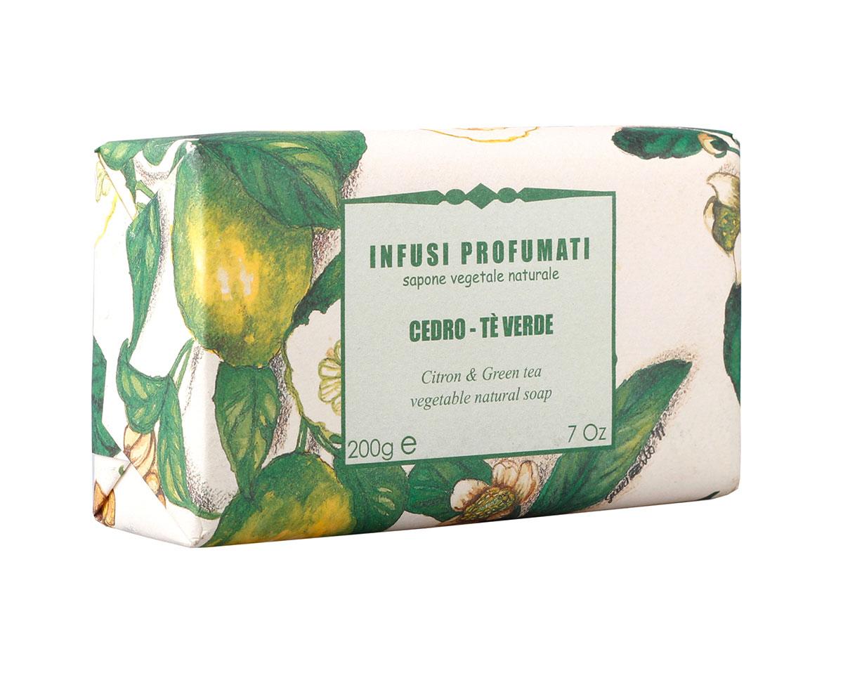 Iteritalia Мыло натуральное с цитроном и зеленым чаем, 200 г