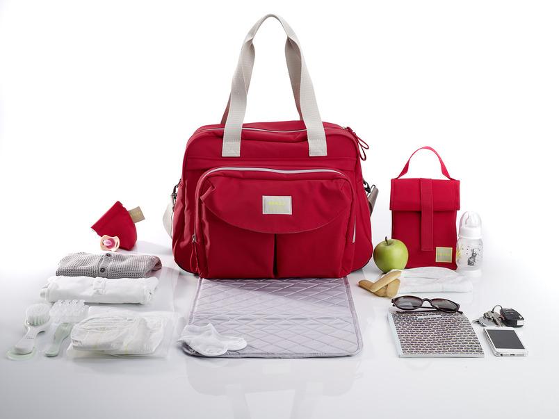 Beaba Сумка для мамы Changing Bag Geneva Ii цвет красный