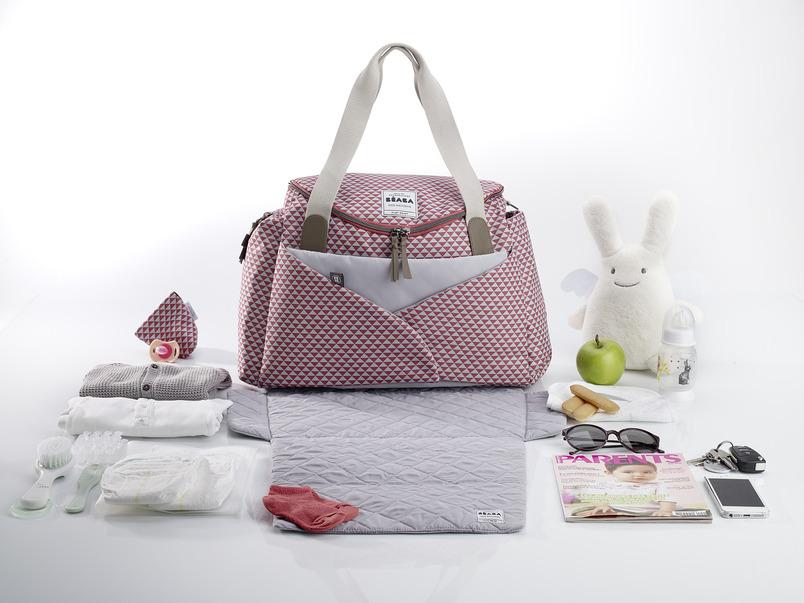 Beaba Сумка для мамы Changing Bag Sydney Ii цвет розовый белый