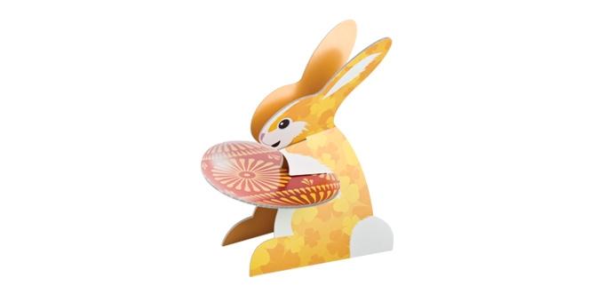 """Этажерка Tescoma """"Зайчик, крашеные яйца и цыплята"""", высота 36 см"""