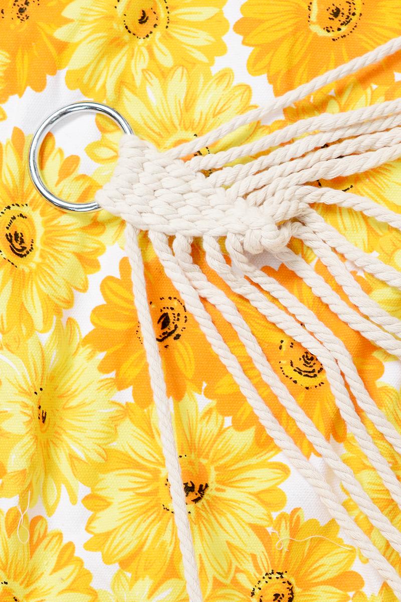 "Гамак Wildman ""Цветы"", цвет: оранжевый, желтый, белый, 80 х 200 см"