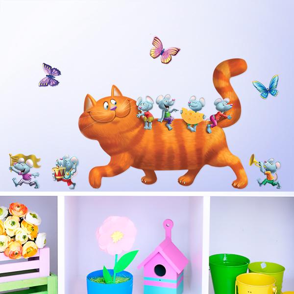 """Украшение для стен и предметов интерьера """"Кошки-мышки"""""""