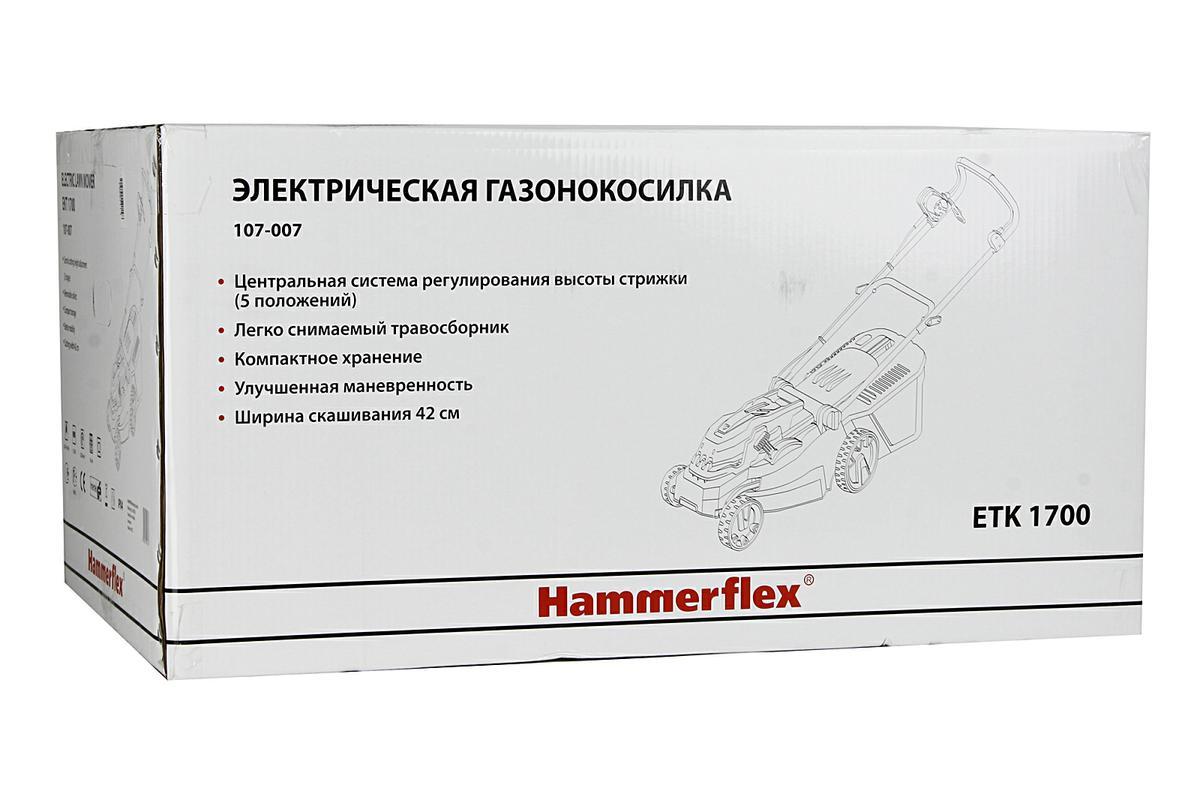 Газонокосилка электро Hammer Flex ETK1700 ( 54998 )