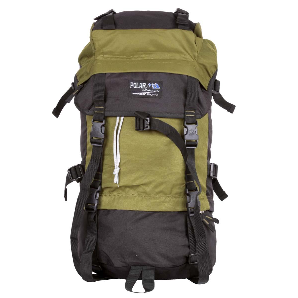 Рюкзак экспедиционный Polar, 45 л, цвет: темно-зеленый. П930-08
