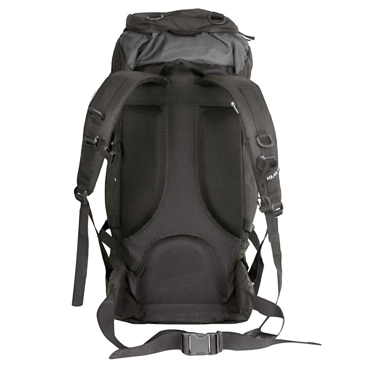 Рюкзак экспедиционный Polar, 50 л, цвет: черный. П931-05