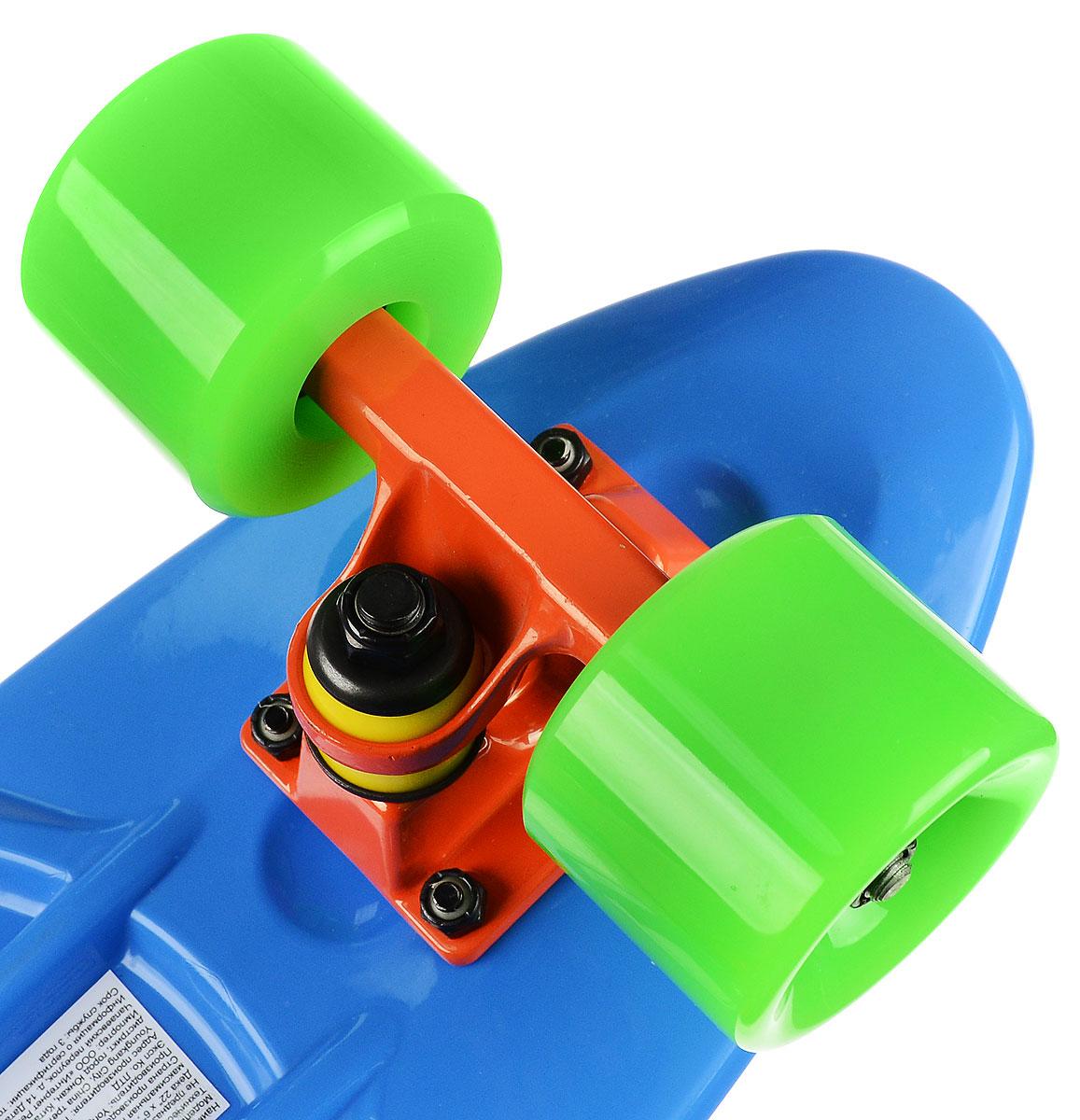 "Пластборд ""Fish"", цвет: синий, зеленый, дека 56 х 15 см"