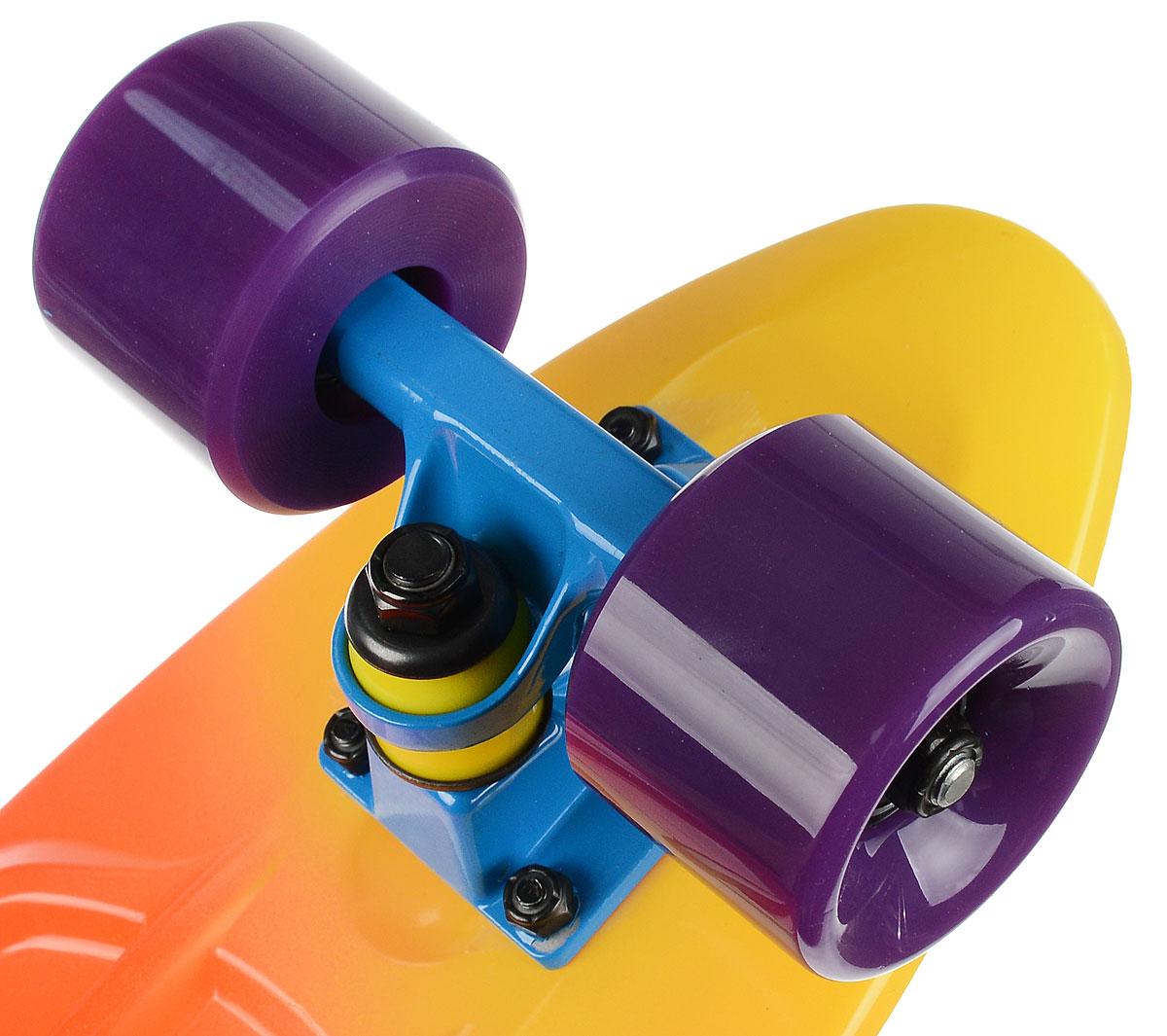 "Пластборд ""Fish"", цвет: желтый, оранжевый, голубой, дека 56 х 15 см"
