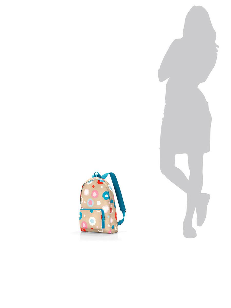 Рюкзак складной женский Reisenthel, цвет: бежевый, голубой. AP6034 ( AP6034 )
